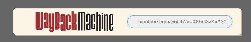 Paste URL into Wayback Machine