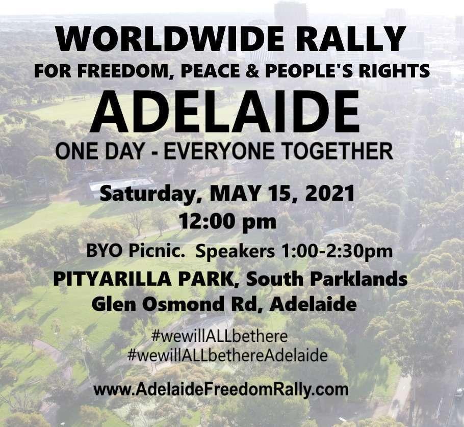 Worldwide Freedom Rally - Adelaide