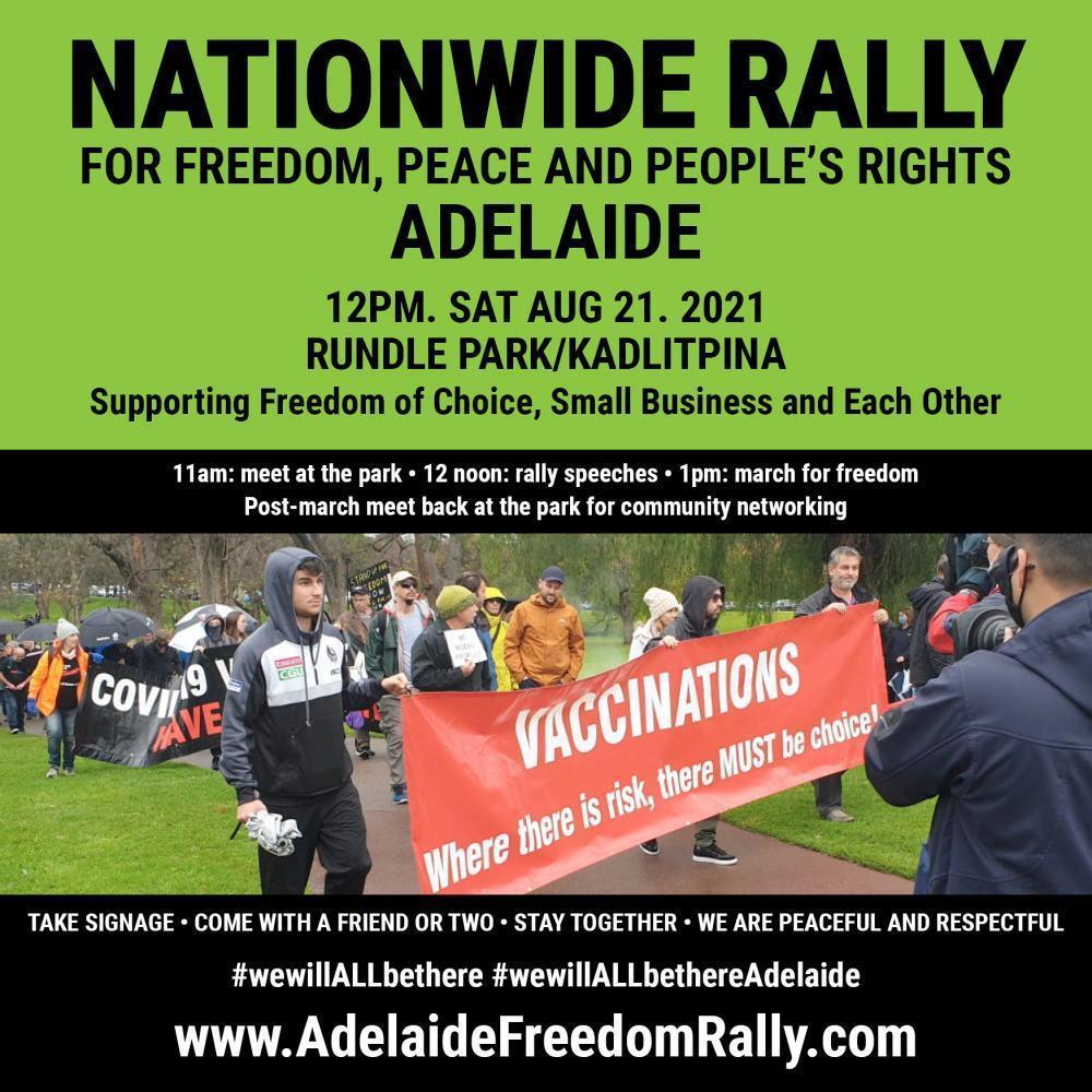 Nationwide Rally - Adelaide - 21 Aug 2021