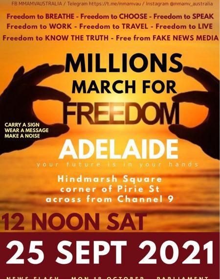 Millions March Adelaide 25 September